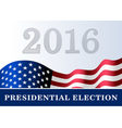 american flag background Presidential Election vector image