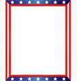 american flag decorative border vector image vector image