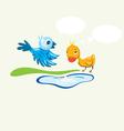 Bird n duck vector image