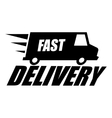 black fast delivery icon vector image vector image