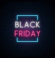 black friday neon signboard bright sale sign vector image vector image