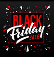 black friday sale banner template vector image vector image
