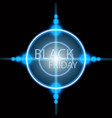 black friday sale handmade lettering target vector image vector image