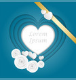blue hearts levels in paper style with white vector image vector image