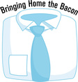 Bringing Home The Bacon vector image vector image