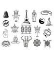 buddhism religion symbol buddha ying yang lotus vector image vector image