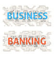 Business Banking Line Art Concept vector image