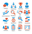 business management icons pack 03 vector image vector image