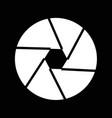 camera shutter icon design vector image
