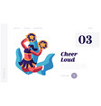 cheerleader girl dancing with pompons on sport vector image vector image