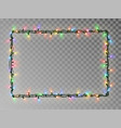 christmas lights border light string frame vector image vector image