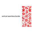 christmas seamless border composed red vector image vector image