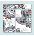 collection of decorative floral greeting cards vector image