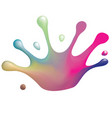 color splash crown vector image vector image
