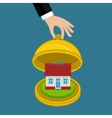 Concept of house insurance vector image