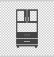 cupboard icon on isolated background modern flat vector image vector image