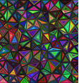 Dark colored triangle mosaic background design vector image vector image