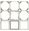 decorative frames set 47 vector image vector image