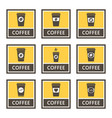 Disposable coffee cup icons and signs set