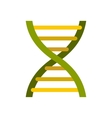 DNA icon in flat style vector image vector image