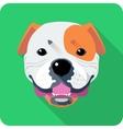 dog American Bulldog icon flat design vector image vector image