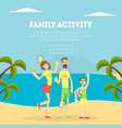 family activity banner template happy parents and vector image vector image