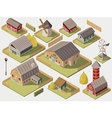 Farms Isometric Set vector image vector image
