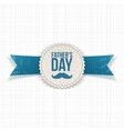 Fathers Day greeting Banner with Ribbon and Text vector image