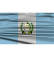 Flag of Guatemala with old texture vector image