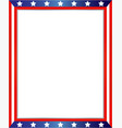 frame with an abstraction of the flag of the unite vector image vector image