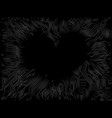 frightening dark image of a black heart vector image vector image