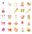 games for schoolchildren icons set cartoon style vector image vector image