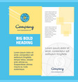 globe company brochure title page design company vector image vector image