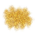gold glitter sand frame isolated on white vector image