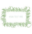 Grass frame background hand drawn vector image vector image