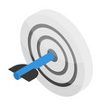 grey target icon isometric style vector image vector image