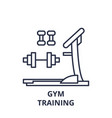gym training line icon concept gym training vector image vector image