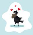 happy valentines day cute cartoon black funny vector image vector image