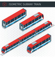 isometric subway train vector image