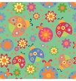 ladybird pattern vector image vector image