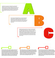 letters A B C option items with text vector image vector image