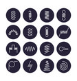metal spring flat line icons variety of flexible vector image