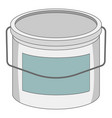 paint bucket icon cartoon style vector image vector image