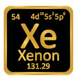 periodic table element xenon icon vector image vector image