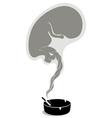 pregnant smoker vector image vector image