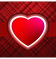Red glow heart Valentines day card with EPS 8 vector image vector image