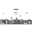 rome city tour cityscape skyline line outline vector image