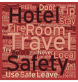 Safety Tips For Travelers text background vector image vector image