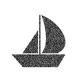 sail boat sign black icon from many vector image vector image