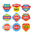 sale design badges set discount clearance tag vector image vector image